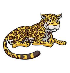 Cartoon jaguar cat vector
