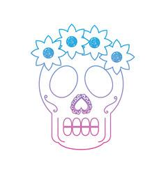 Catrina sugar skull mexico culture icon image vector