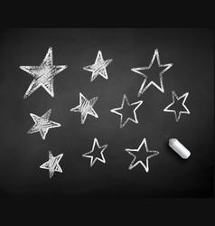 chalk drawn stars vector image
