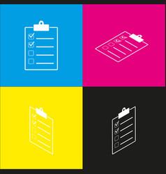 checklist sign white icon vector image