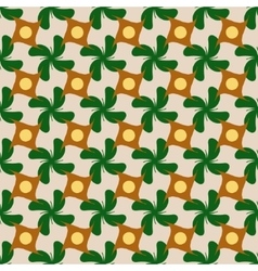 Circle and flower rhombus seamless pattern vector
