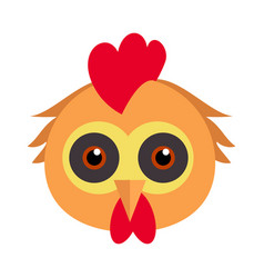 cock bird carnival mask rooster chicken hen fowl vector image
