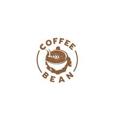 coffee bean silhouette logo vector image