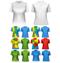 colorful abstract women t-shirts design template vector image