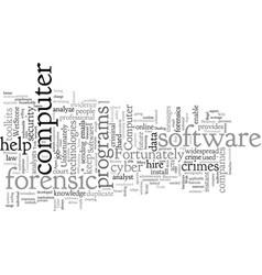 Computer forensics software vector