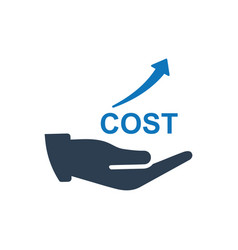 Cost rising icon vector