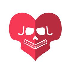 Dead love skulls heart deadly cupid emblem vector