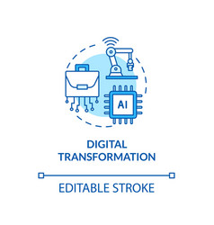 Digital transformation turquoise concept icon vector
