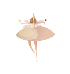 fabulous fairy on white background fairytale vector image