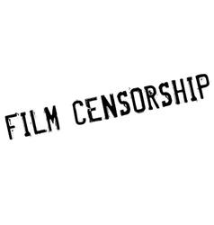 Film Censorship rubber stamp vector