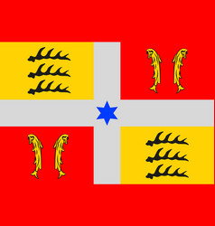 Flag of montbeliard in doubs of franche-comte is vector