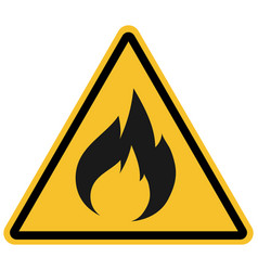 Flammable warning sign for productsyellow vector