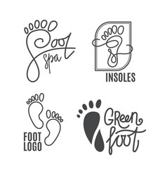 Foot silhouette health center logo orthopedic vector