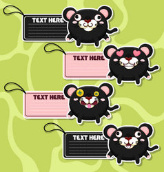 Four cute cartoon Panthers stickers vector image vector image
