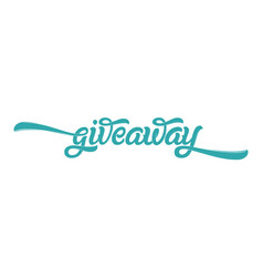 Giveaway banner card with lettering for social vector