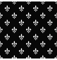 Golden fleur-de-lis seamless pattern black 7 vector
