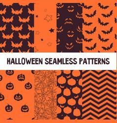 Halloween orange and black jumbo polka dot vector
