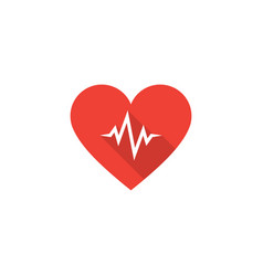 heart beat icon vector image