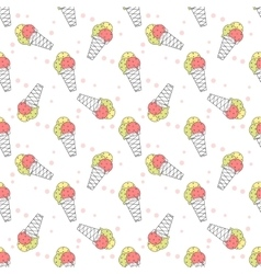 Ice creams pattern vector image