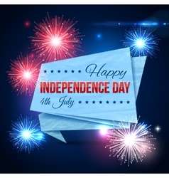 Independence day of the USA typographical vector image