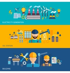Industrial banner set vector image