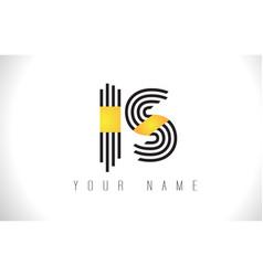 Is black lines letter logo creative line letters vector