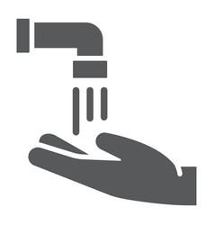 Islamic wudu glyph icon ramadan and islam hand vector