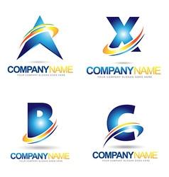 Lette Logo Designs vector image
