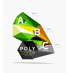 Low poly abstract infographics vector