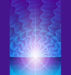 Magic abstract background with rays of light vector