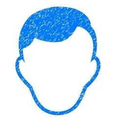 Man Face Template Grainy Texture Icon vector