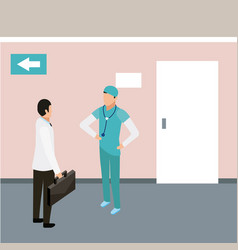 medical people health vector image