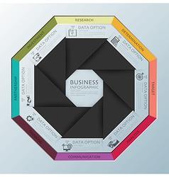 Modern Business Infographic Octagon Propeller vector
