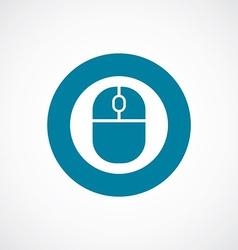 mouse icon bold blue circle border vector image