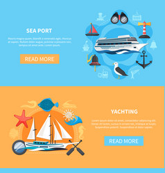 nautical banners set vector image