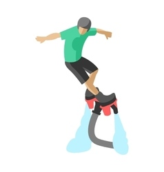 New spectacular extreme sport flyboard summer vector image
