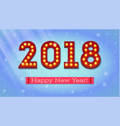 new year 2018 coming the text in the style of vector image