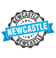 Newcastle round ribbon seal vector