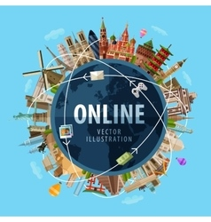 Online logo design template internet or vector