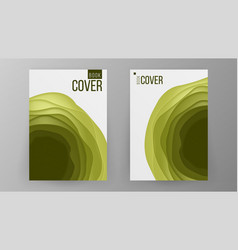 paper brochure design space for photo vector image