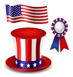 Patriotic item set vector image