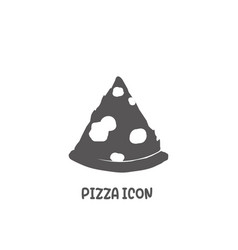 pizza icon simple flat style vector image