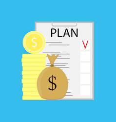plan checklist growth money vector image
