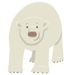 Polar bear cartoon animal character vector