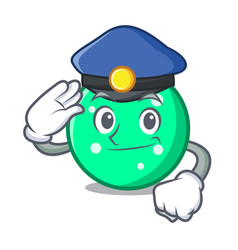 police circle character cartoon style vector image