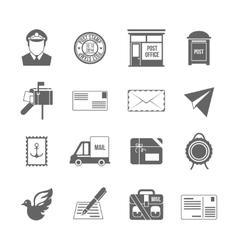 Post service icon black vector image
