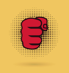 Powerful male fist icon vector