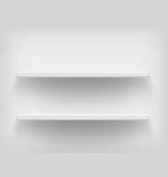 realistic white shelves vector image