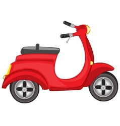 Red motor scooter vector