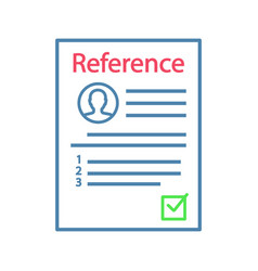 Reference letter color icon vector